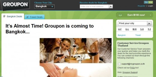 groupon thailand 520x257 Groupon ends months of speculation as it officially launches in Thailand