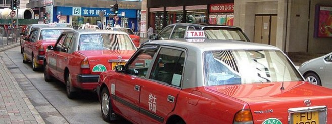 hong kong taxis