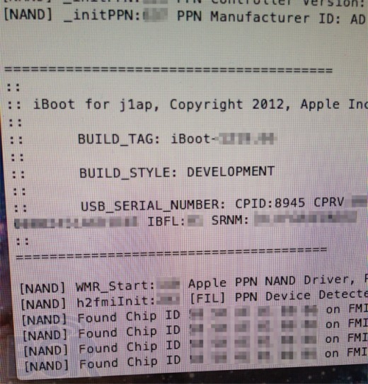 iPad 3 1 520x543 Leaked screenshots of iPad 3 development tool show LTE, quad core processor