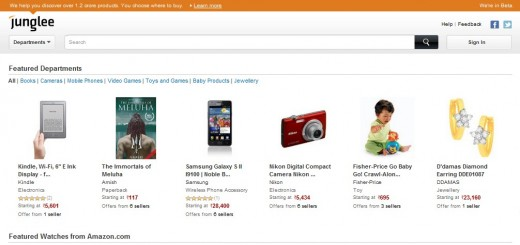 junglee 520x245 Amazon moves into Indias e commerce market with the launch of Junglee