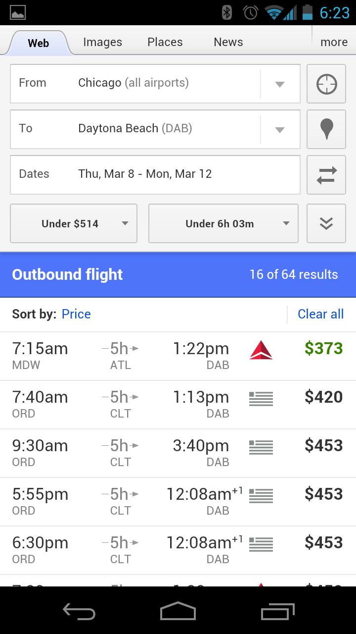 mobile flight search 1-1