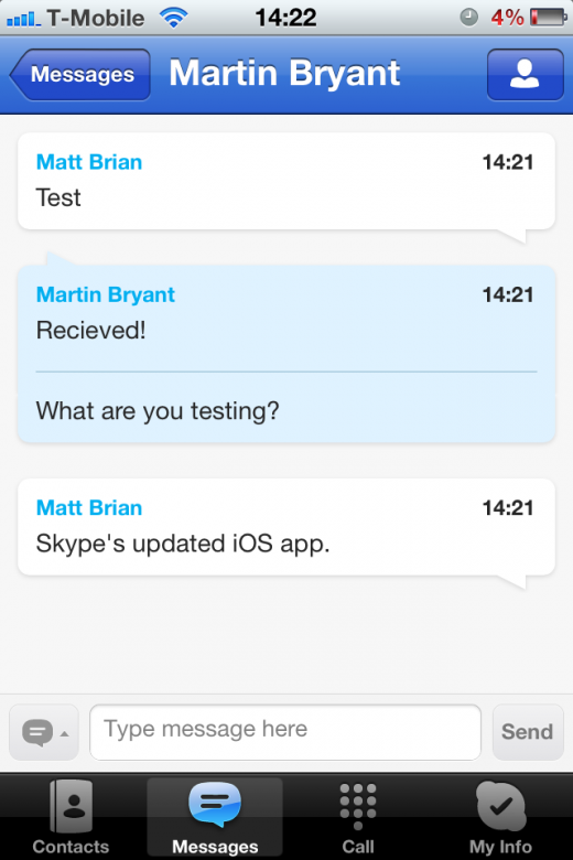 photo 28 520x780 Skype for iOS updated to deliver improved dialpad and chat UI, iOS 5 stability
