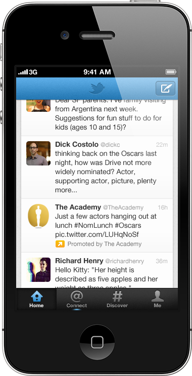 ptw mobile the academy Ads are coming to your Twitter for iPhone and Android timelines