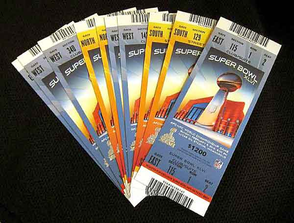 superbowl tickets image New Super Bowl XLVI security gadgets: X Rays, sewer caps and more