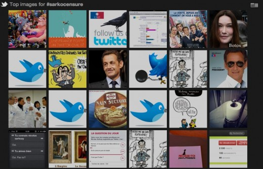 top images for sarkocensure 520x335 Twitter answers accusations of censorship for closing French anti Sarkozy accounts