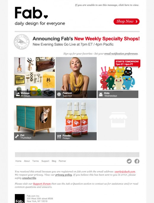weekly shops announcement Final 520x686 Fab launches vintage, fashion, kids, pets and foodie shops, continuing world domination