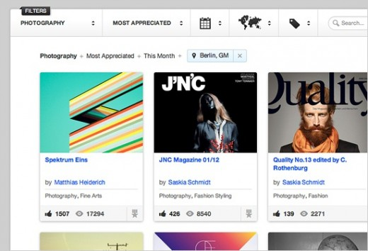 01 explore 520x354 Behance launches redesign for showcasing & discovering talent right from tap