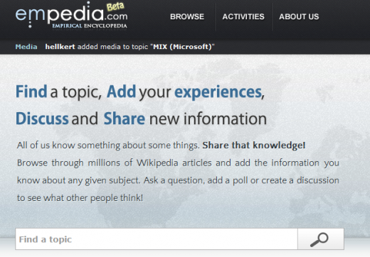 1 520x362 Empedia takes Wikipedia articles and lets users add their own personal experiences