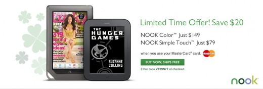 379003208 520x176 Barnes & Noble offers $20 price cut on NOOK e readers in Mastercard partnership