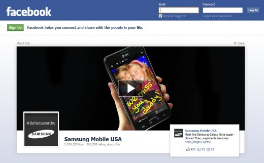 ApB3TsaCEAAMBMQ 520x322 This Facebook log out ad probably cost Samsung Mobile $700K