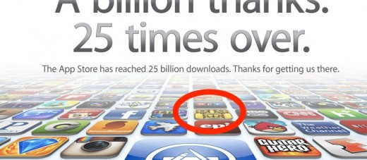 Apple iTunes 25 Billion App Countdown 520x227 Temple Run, one of the most popular games for iOS, is coming to Android