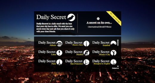 DSHomepage Daily Secret lands $1.85 million from U.S. investors, delivers daily city tips to your inbox