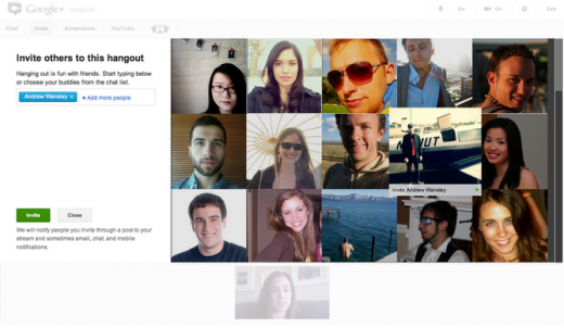 Edited New Invite Screenshot 520x302 Google+ makes it infinitely easier to invite your friends to Hangouts