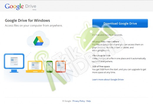 GD1 520x355 Google Drive tipped to launch with with 5GB free storage, mobile app document editing capabilities