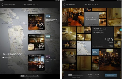HotelIpad 520x336 Hotel Tonight rolls out its same day room booking service for iPad users