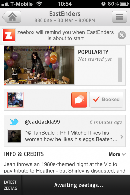 IMG 2132 520x780 Social TV app Zeebox updated to add channel customization, show reminders and more