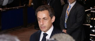 Nicolas Sarkozy arrives at the European Summit in Brussels by StefdeVries