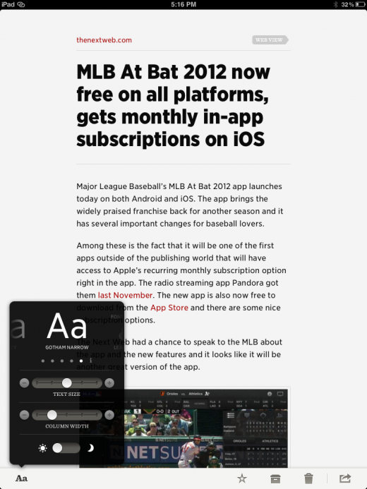 Photo Feb 29 5 16 46 PM 520x693 Review: Readability finally gets a gorgeous app on iOS, but was it worth the wait?