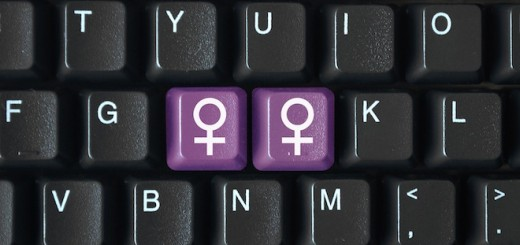 Female symbols on keyboard