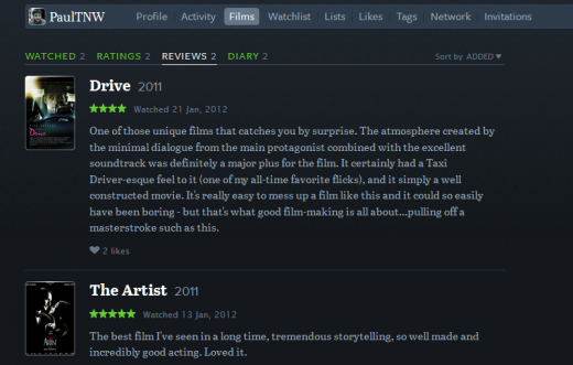 Reviews 520x331 Your life in film: Letterboxd, a social network for movie buffs