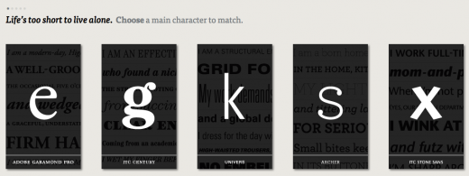 Screen Shot 2012 03 27 at 1.22.16 PM 520x195 This typographic dating game teaches designers how to pair typefaces