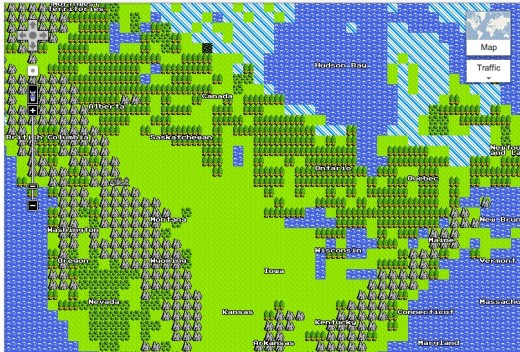 Screen Shot 2012 03 31 at 8.17.25 AM 520x352 Googles first April Fool this year is brilliant: Maps 8 bit for the NES