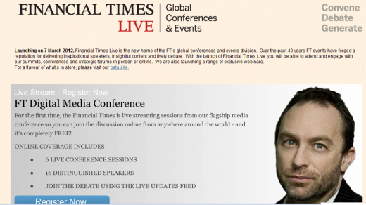 Screenshot 41 520x292 FT relaunches conference arm as Financial Times Live, brings social and video to events