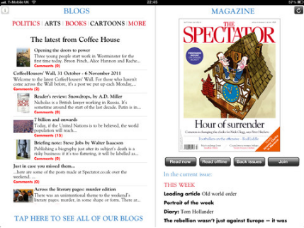 Spectator1 UK mag the Spectator announces a 190 year online archive, and refreshes its iOS app
