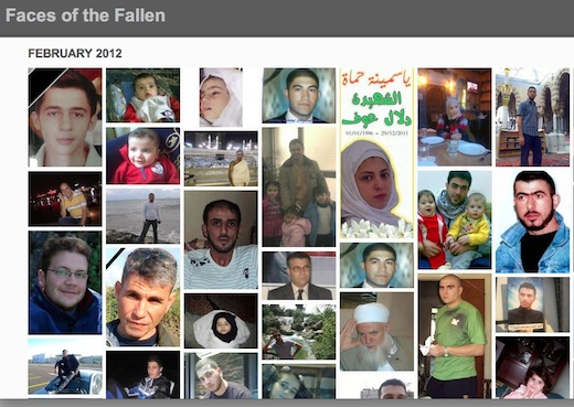 Syria Online projects put faces and names to fallen protesters of Syria and Egypt