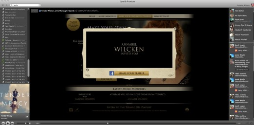Titanic Trailer2 520x257 Titanic 3D: Spotify launches its first advertiser page across Europe with 20th Century Fox