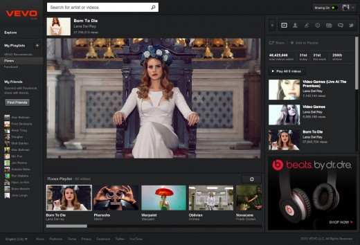 WatchPage 520x354 Vevo rolls out new bigger, smarter, faster video platform, and makes Facebook mandatory