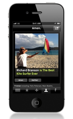 amen1 Addictive opinion app Amen adds media and social features, new investment from Sunstone and Dave Morin