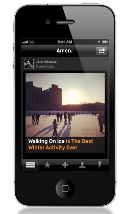 amen2 Addictive opinion app Amen adds media and social features, new investment from Sunstone and Dave Morin