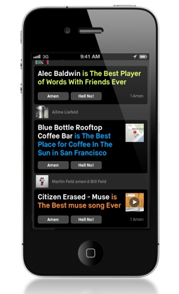 amen4 Addictive opinion app Amen adds media and social features, new investment from Sunstone and Dave Morin