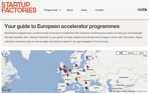 factories Startup Factories aims to build a comprehensive list of European accelerators