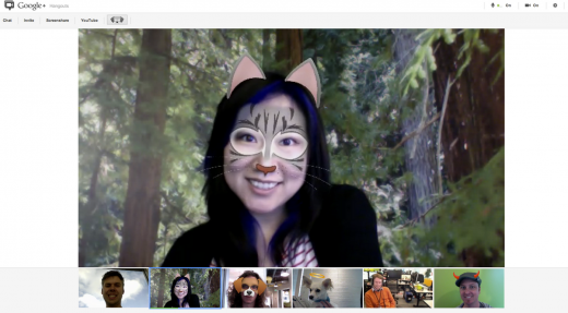 final post image 520x287 Google+ adds new mask effects for Hangouts, so go turn yourself into a cat