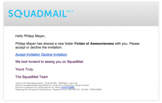 folder invitation 520x332 SquadMail: Like Dropbox for email, this is the easy way to create and share email folders