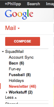 gmail squadmail folders1 SquadMail: Like Dropbox for email, this is the easy way to create and share email folders