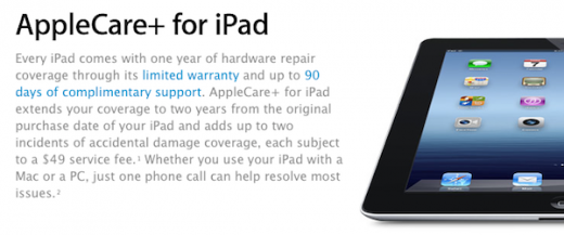 header2 520x217 Apple now offers AppleCare+ to cover accidental damage for iPad owners
