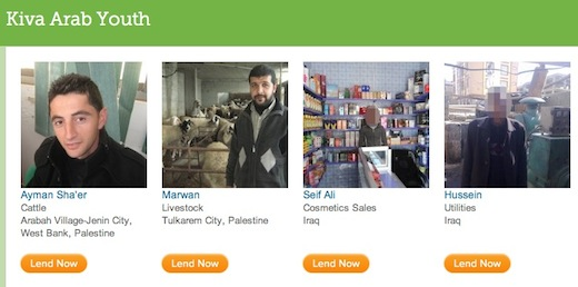 kiva $125,000 in loans made to young Arab entrepreneurs through micro lending site Kiva to be matched