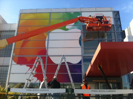 photo 5 520x388 Apples signage for the March 7th iPad 3 event is nearly complete [pictures]