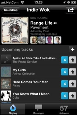 soundrop1 Soundrops addictive, Spotify powered social listening app comes to iOS