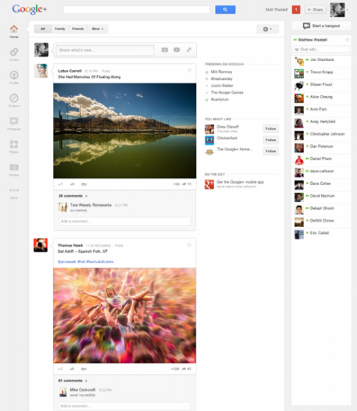 1 small 520x598 Now with 170 million users, Google+ gets a complete redesign
