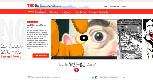 1.5 open view TED Ed homepage expanded lesson with summary 520x271 Backed by $1.25 million, TED launches revamped education platform with customized learning tools