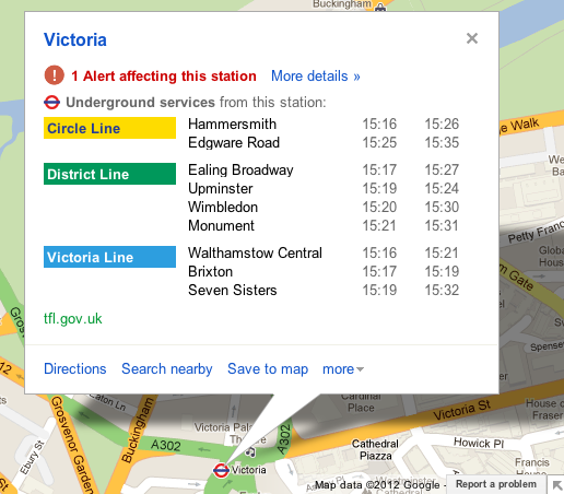 2 TOP RIGHT desktop infowindow victoria v2 Google adds real time service alerts for the London Underground to Google Maps