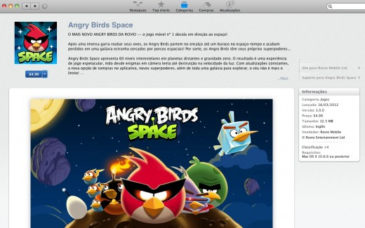 Angry Birds Space 520x325 Brazils iTunes App Store now rolling out a Games section [Updated: Live]