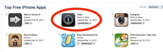 Convo 1 520x167 Viddy shows no signs of slowing down, with 6.5M users it is now the #2 free iOS app