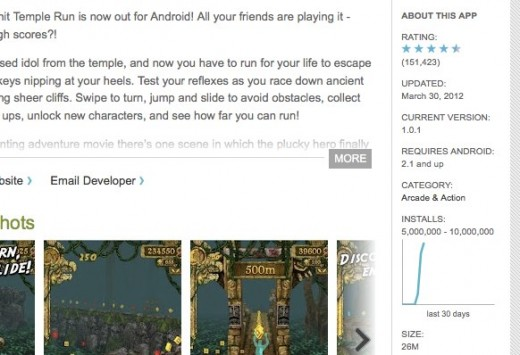 Convofy 179 520x355 Temple Run for Android hits 5 million downloads