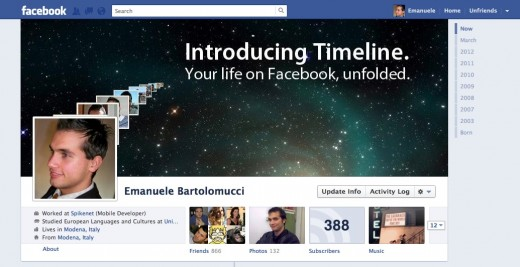 Emanuele Bartolomucci New timeline 520x267 Bigger profile images come to Facebook, just days after Google+ did the same