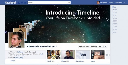 Emanuele Bartolomucci Old timeline 520x267 Bigger profile images come to Facebook, just days after Google+ did the same